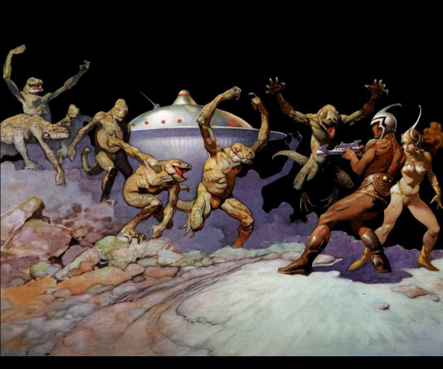 Galeria de Arte: Ficção & Fantasia 1 Frank%20Frazetta-John%20Carter1