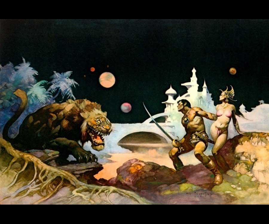 Galeria de Arte: Ficção & Fantasia 1 Frank%20Frazetta-John%20Carter3