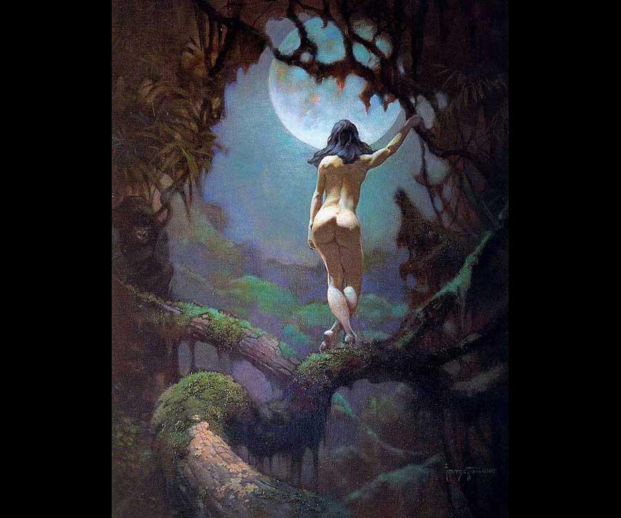 Galeria de Arte: Ficção & Fantasia 1 Frank%20Frazetta-Moon's%20Rapture