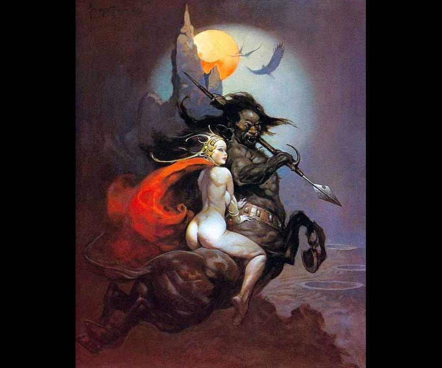 Galeria de Arte: Ficção & Fantasia 1 Frank%20Frazetta-Moonmaid