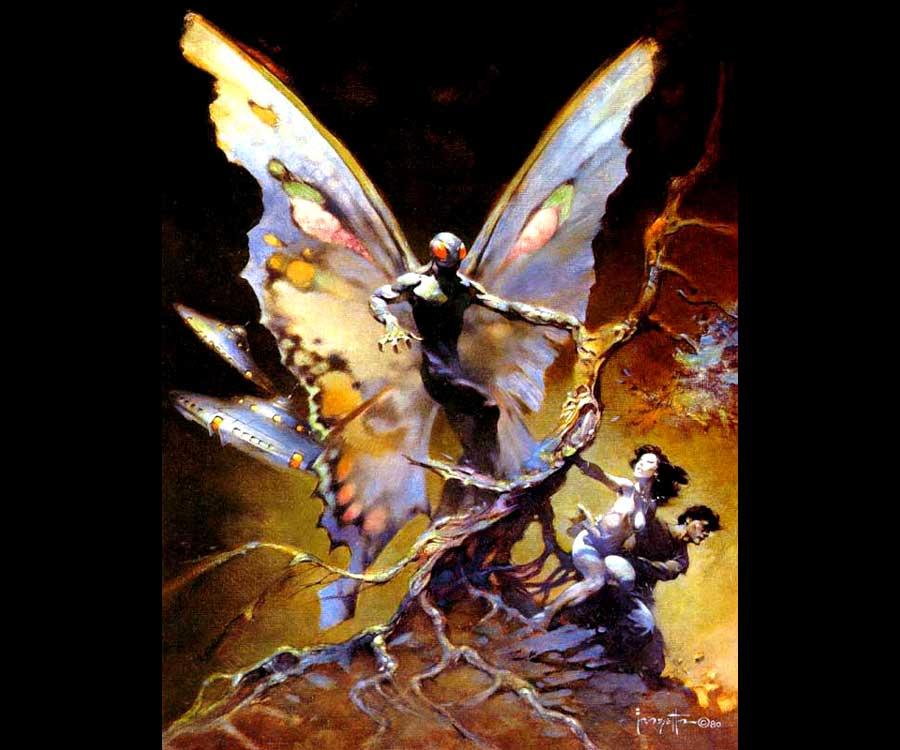 Galeria de Arte: Ficção & Fantasia 1 Frank%20Frazetta-Mothman